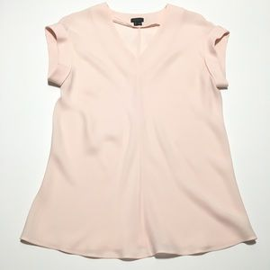 Theory • silk blouse in blush
